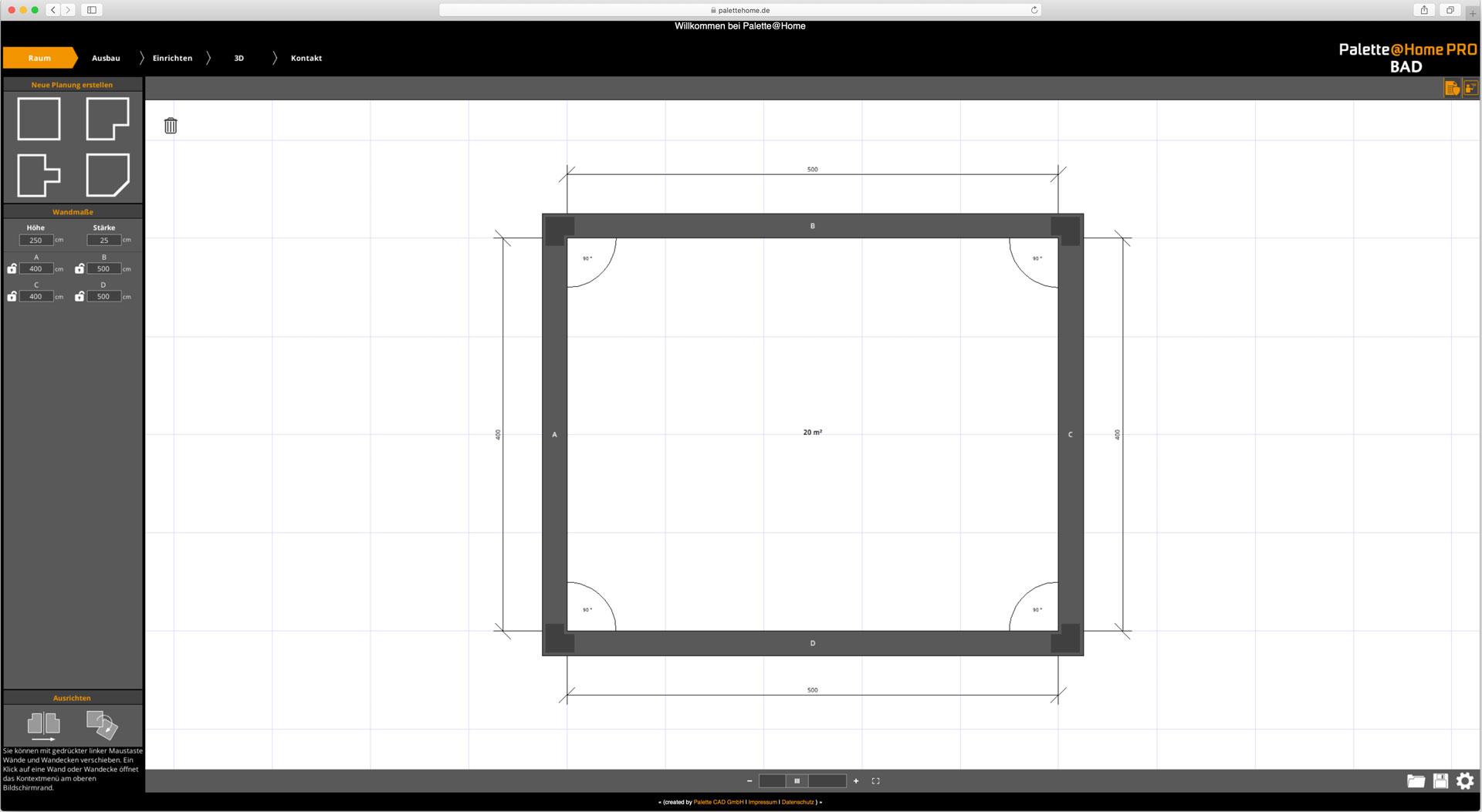 Palette CAD