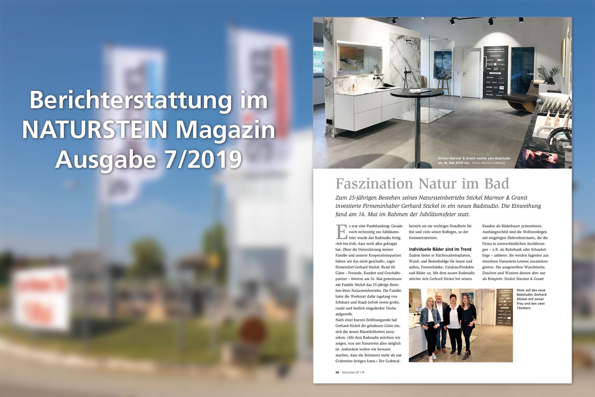 stickel naturstein magazin 07 2019