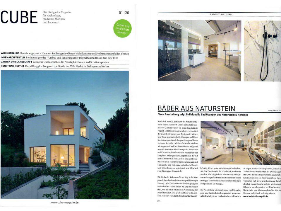 Stickel Reportage CUBE Magazin 012020